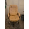 Кресла руководителя бежевая кожа